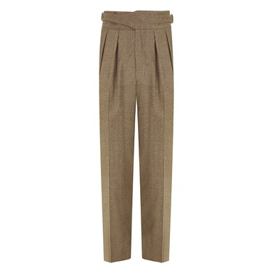Olive Green Wool Manny Trouser