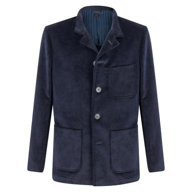 Blue Cotton Short Coat