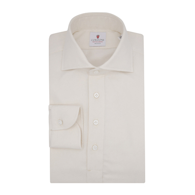 White Flannel Long-Sleeved Polo Shirt