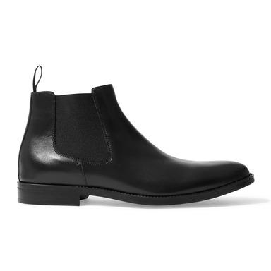 Black Calfskin With Black Elastic Leanardo Chelsea Boots