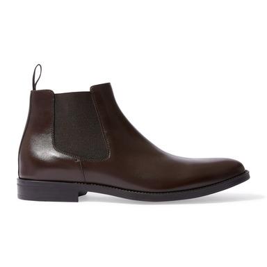 Dark Brown Calfskin With Dark Brown Elastic Leonardo Chelsea Boots