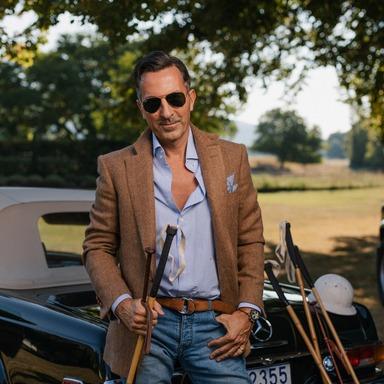 AK MC Provence Wool Herringbone Sports Jacket