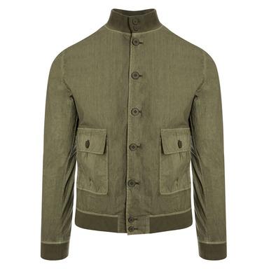 Valstarino Wasabi Green Cotton A1 Bomber Jacket